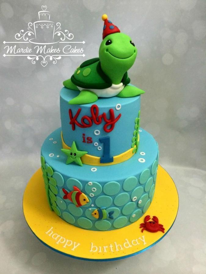 1st Birthday Turtle by Mardie Makes Cakes Cakes Cake