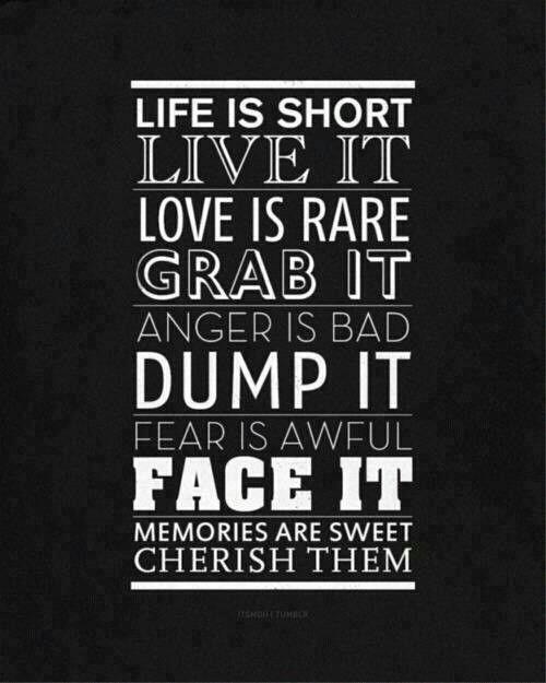 hidup ini singkat hargailah hidup ide