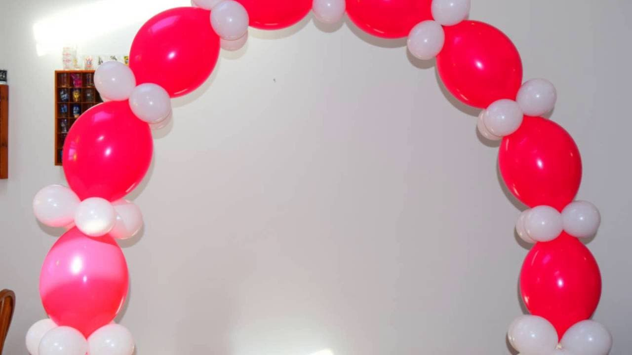 Passo A Passo De Como Fazer Um Arco De Baloes Simples Bonito E