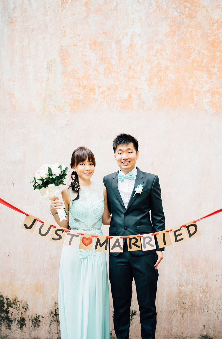 wedding reception photo booth singapore%0A Wedding garland    Gareth and Jia Le u    s Simple Solemnisation by Singapore u    s  Youngest