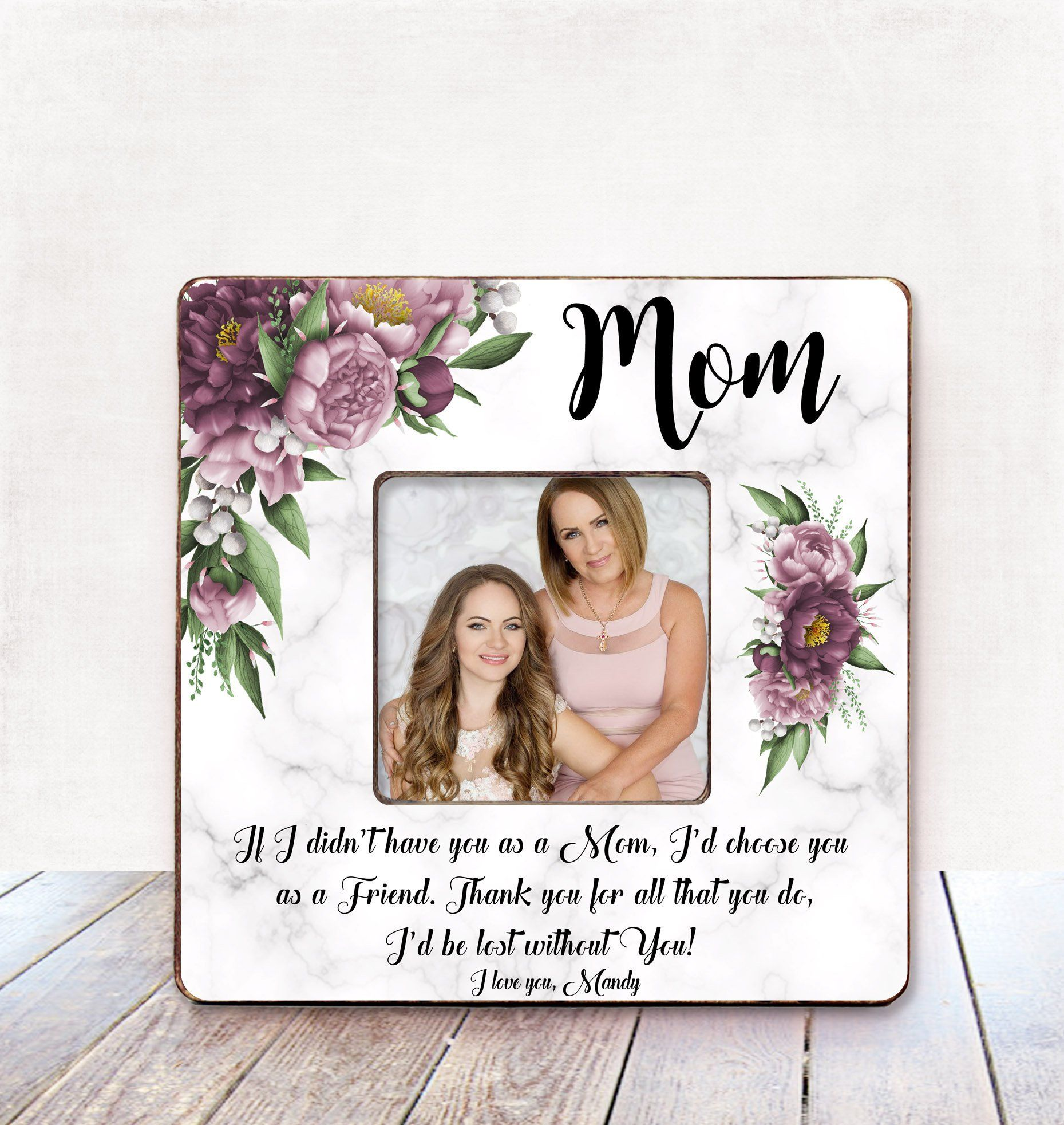 Mom Mother/'s Day Gift from Children Kids Mother/'s Day Picture Frame Personalized Gift from Daughter Son We Love Our Mommy Custom Photo Frame