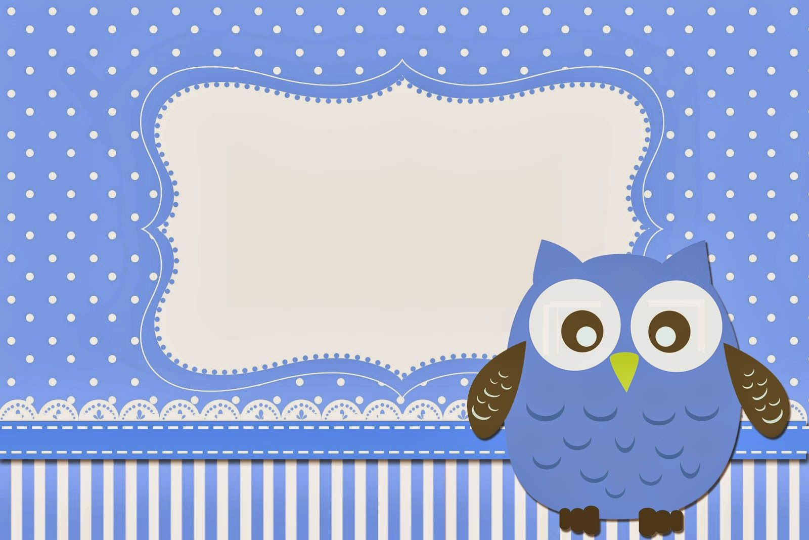 Búho celeste: Invitaciones para Imprimir Gratis. | Ideas | Pinterest ...