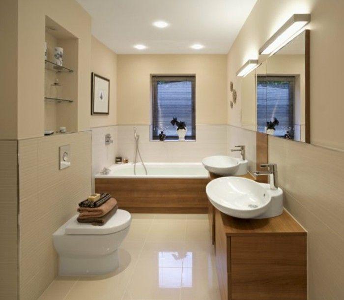 Moderne Gestaltung Kleines Bad Beige Interieur