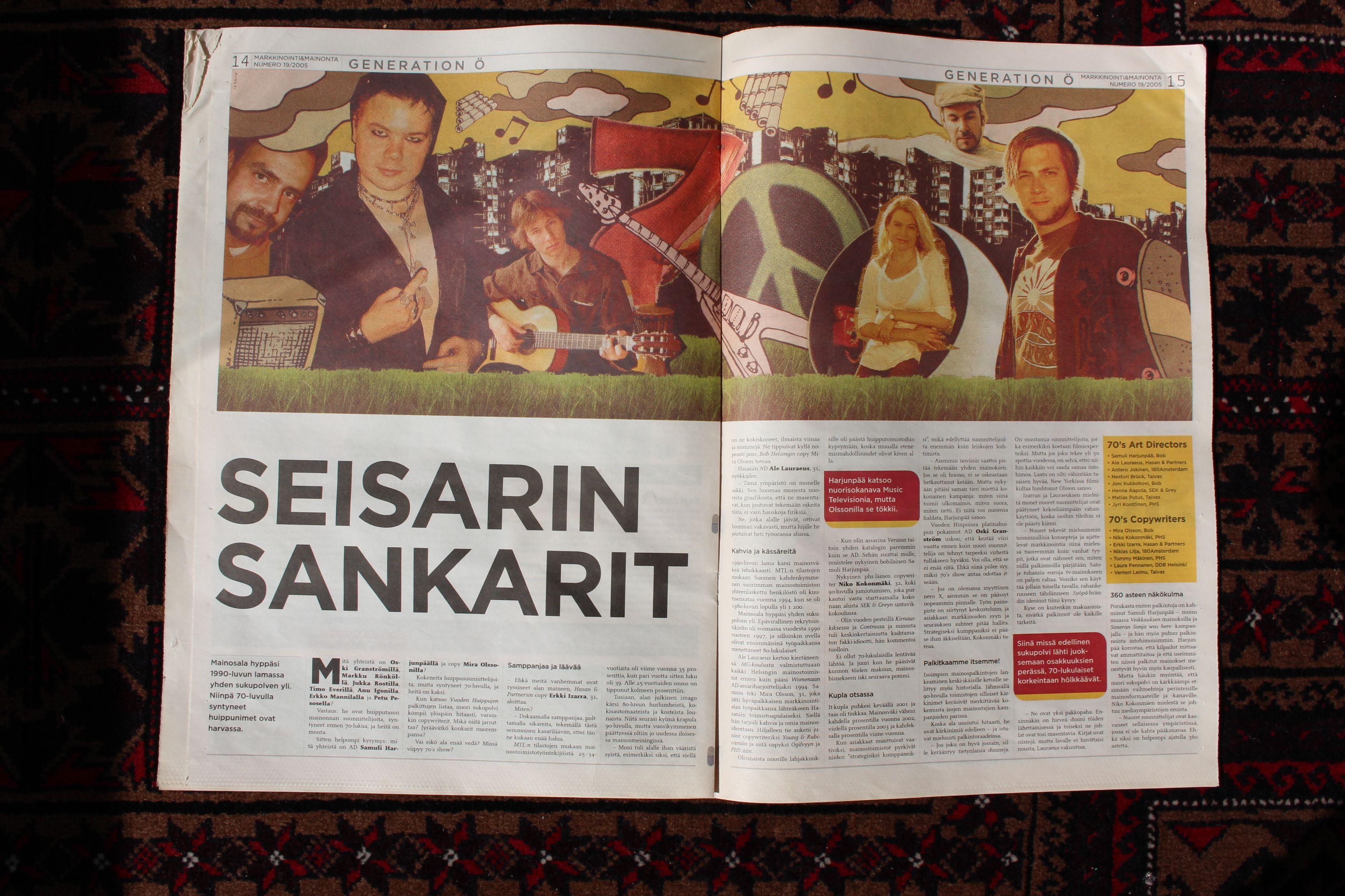Markkinointi & Mainonta, juttu 2001