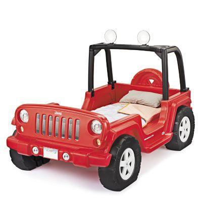 Little Tikes Carro Cama Jeep Wrangler Ropa De Cama De Color Rojo