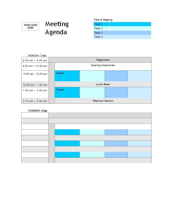We collected 40+ Meeting Agenda Templates to make your meetings more