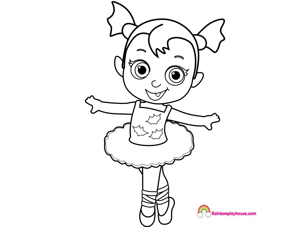 Resultado De Imagen Para Vampirina Para Colorear Con Imagenes
