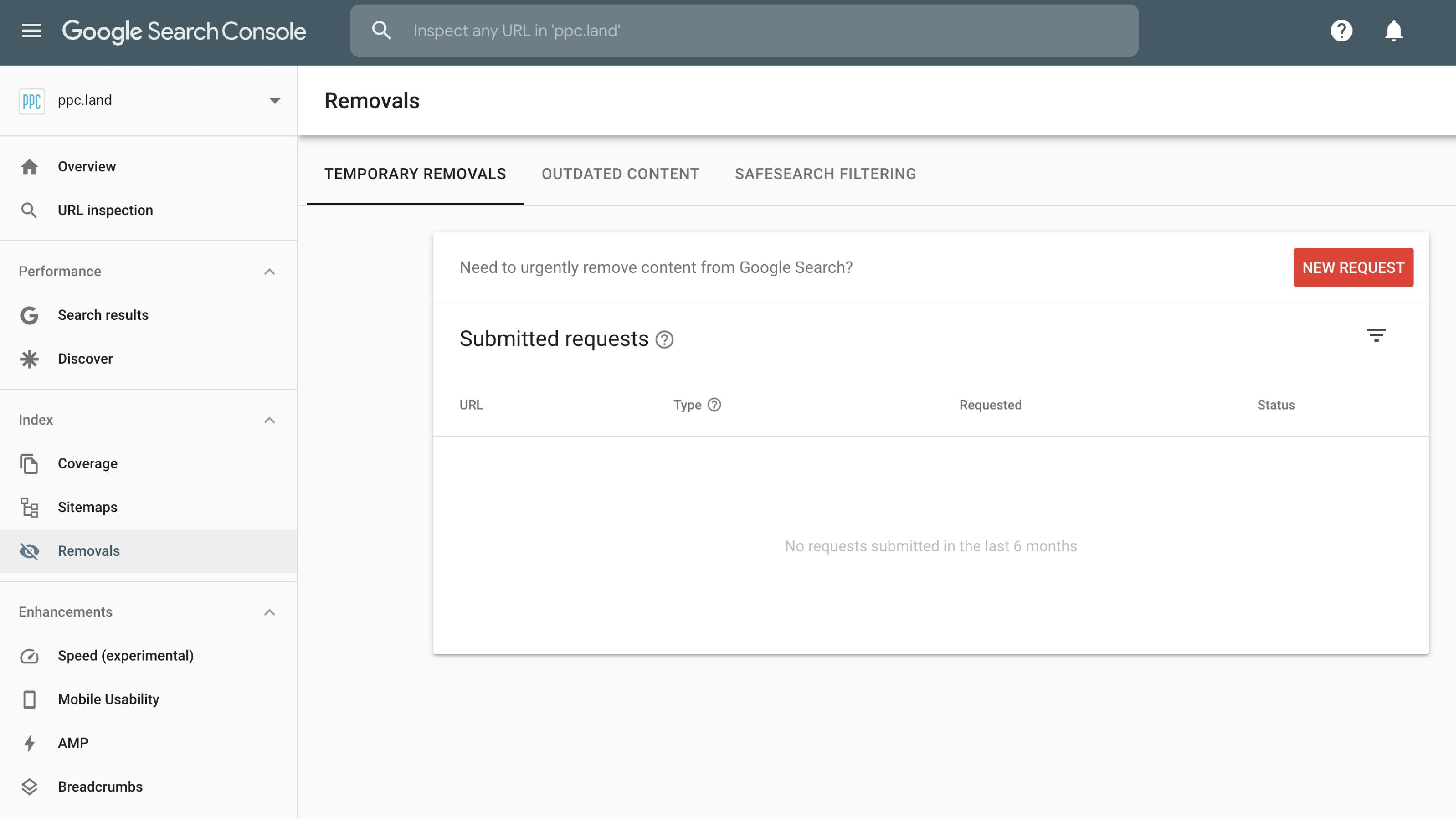 Google Launches A New Version Of The Removals Report In Search