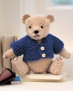 knitted bear.