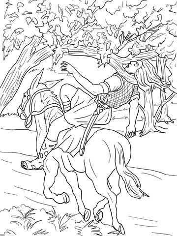 Absalom Death Coloring page Sunday