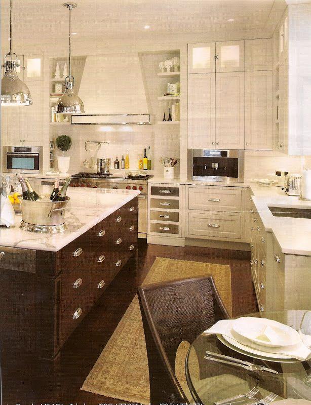 Carrera marble is stunning in this kitchen! | Kitchen ...