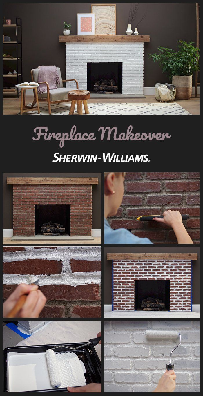 How to Paint a Brick Fireplace | Fireplace Makeover | Sherwin-Williams