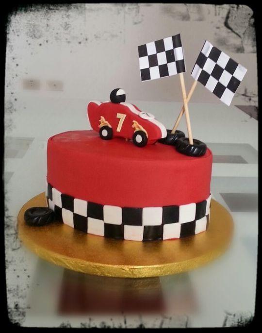 Racing Car Birthday Cake Cake By Deema Cakesdecor Racing