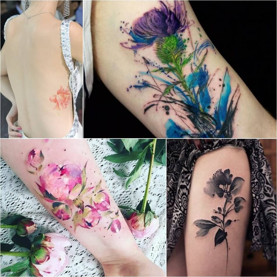 Watercolor Tattoo Designs Watercolor Tattoo Technique