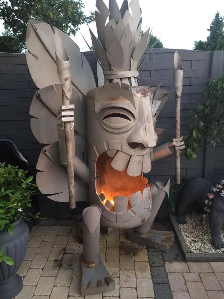 Tiki God Fire Pit Fire Pit Backyard Cheap Fire Pit