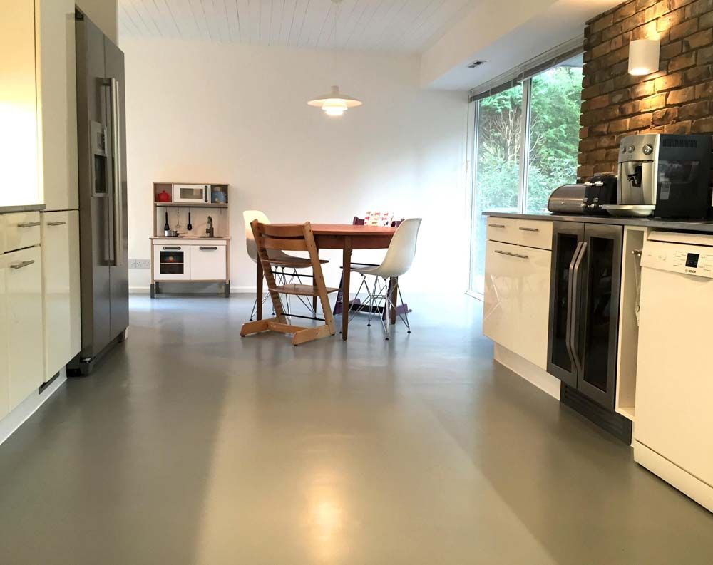 Susannah's Grey Rubber Kitchen Floor By Harvey Maria
