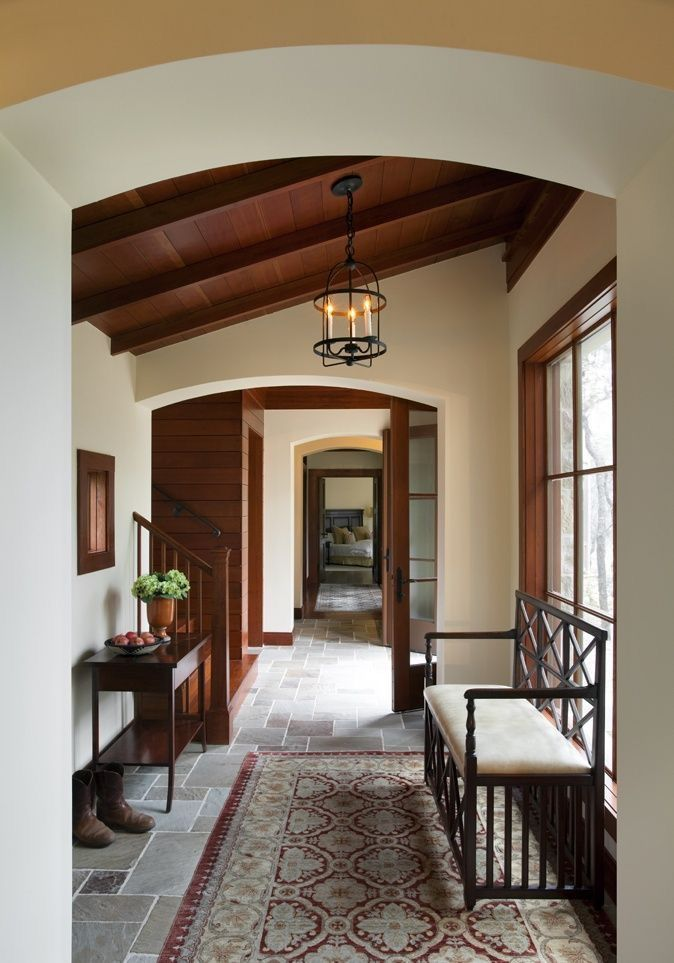 Dream house interior beautiful houses interiors spanish style homes rustic also pin by carolyn malin on brick stone wood entryway rh pinterest