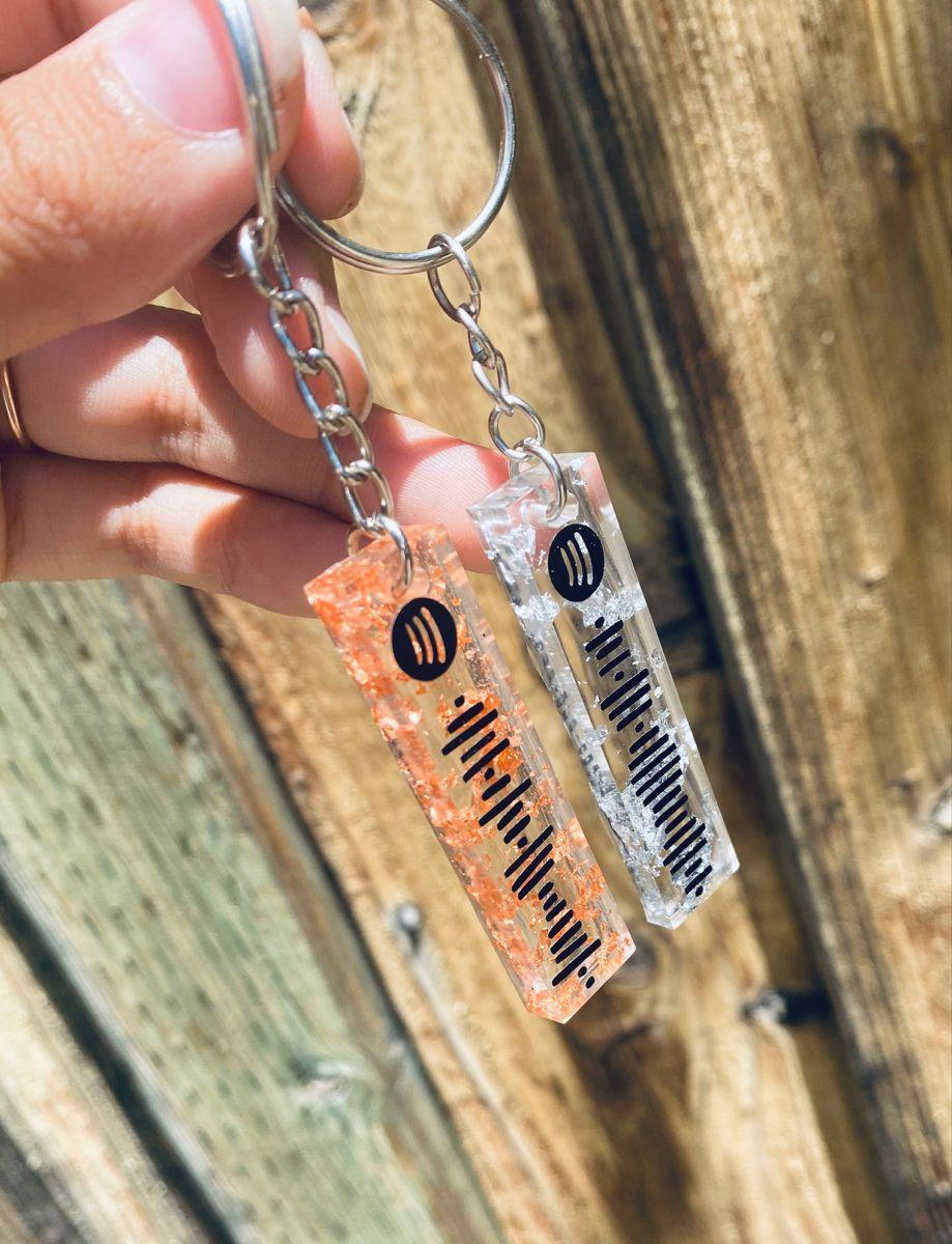 Custom Spotify Code Keychain Gifts Birthday Gift