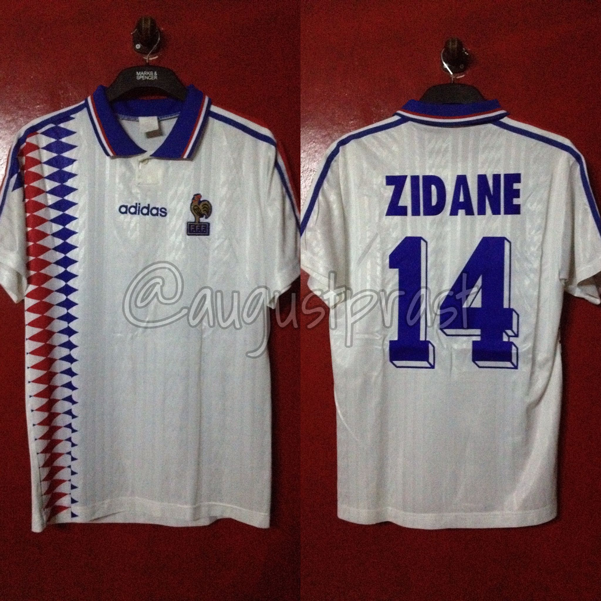 France 1994-1996 Away  14 Zidane  fc1703917