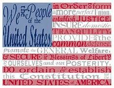 picture about Preamble Printable identified as American Flag with the Preamble towards the Consution--free of charge