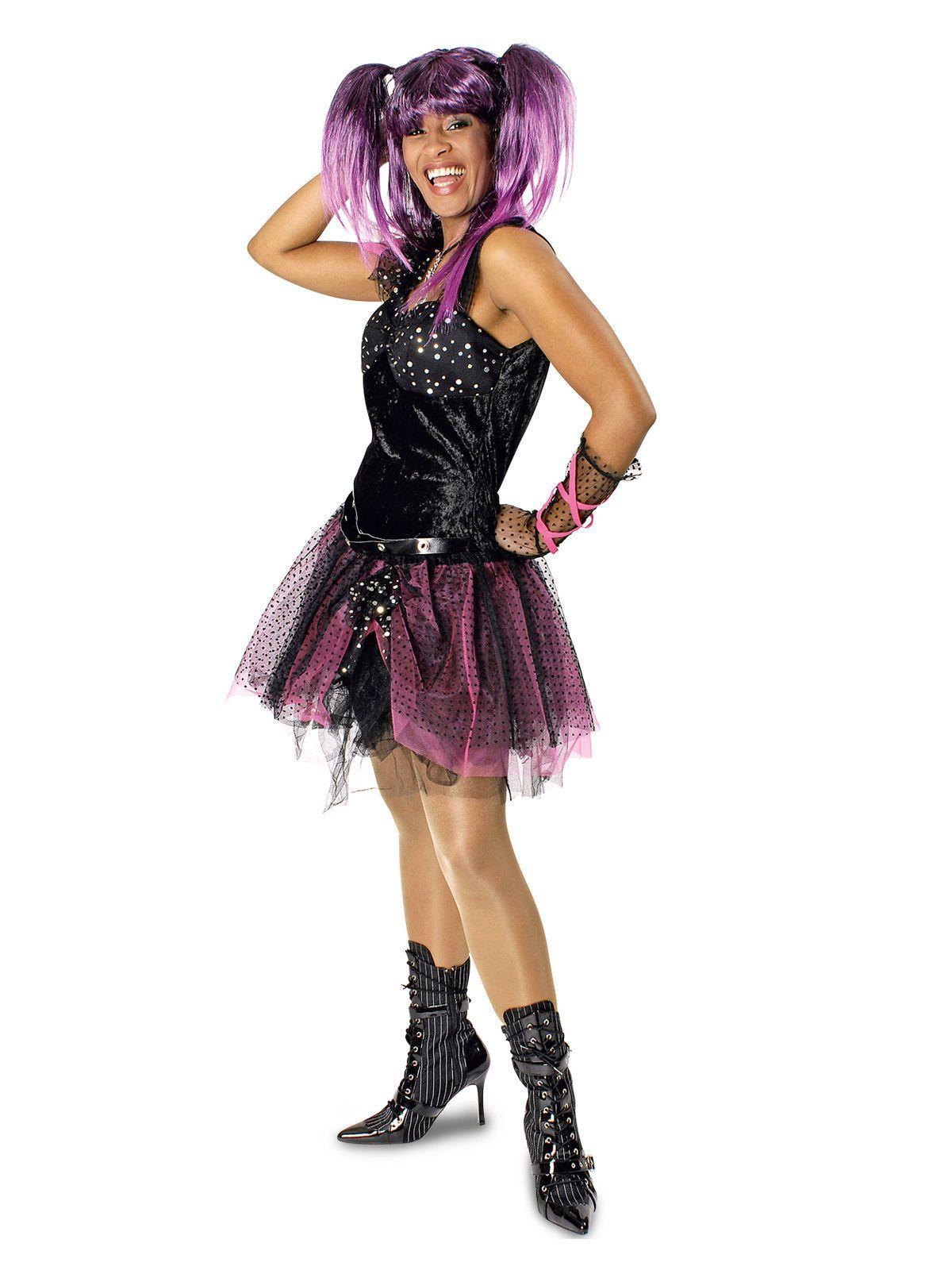 , 80er Jahre Punkerin Damenkostüm Gothic schwarz-pink, aus unserer Kategorie 80er Jahre Kostüme. Diese Punk-Lady lässt es immer ordentlich krachen! E…, My Pop Star Kda Blog, My Pop Star Kda Blog