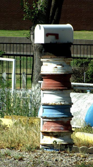 Taken AUG 4, 2010 in Windthorst, TX  Mailbox on wheels