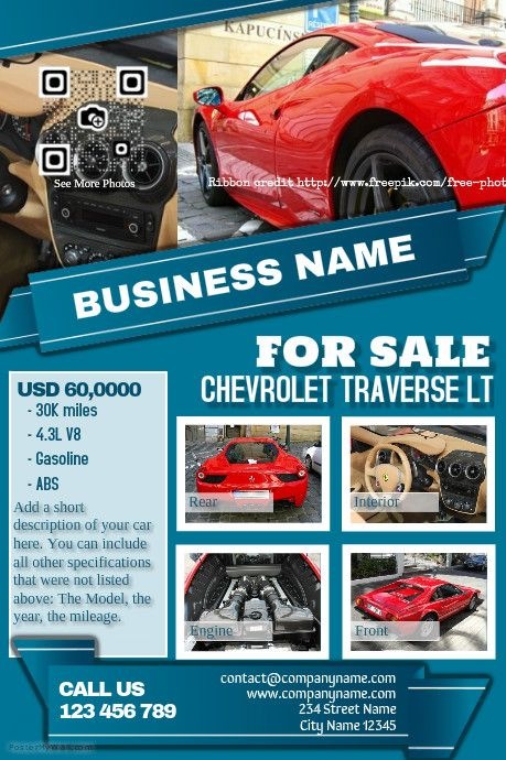 Car For Sale Flyer Template Free