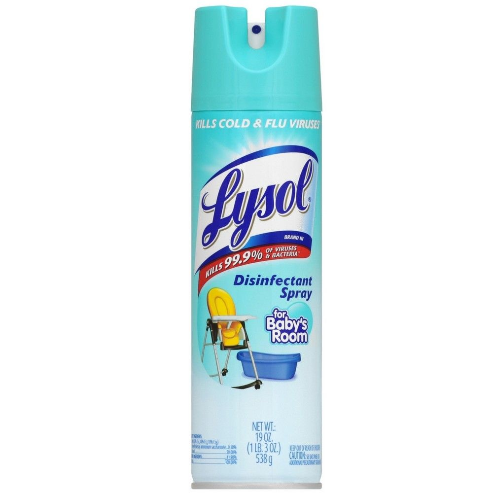 Lysol Disinfectant Spray Baby S Room Scent 19 Oz Disinfectant