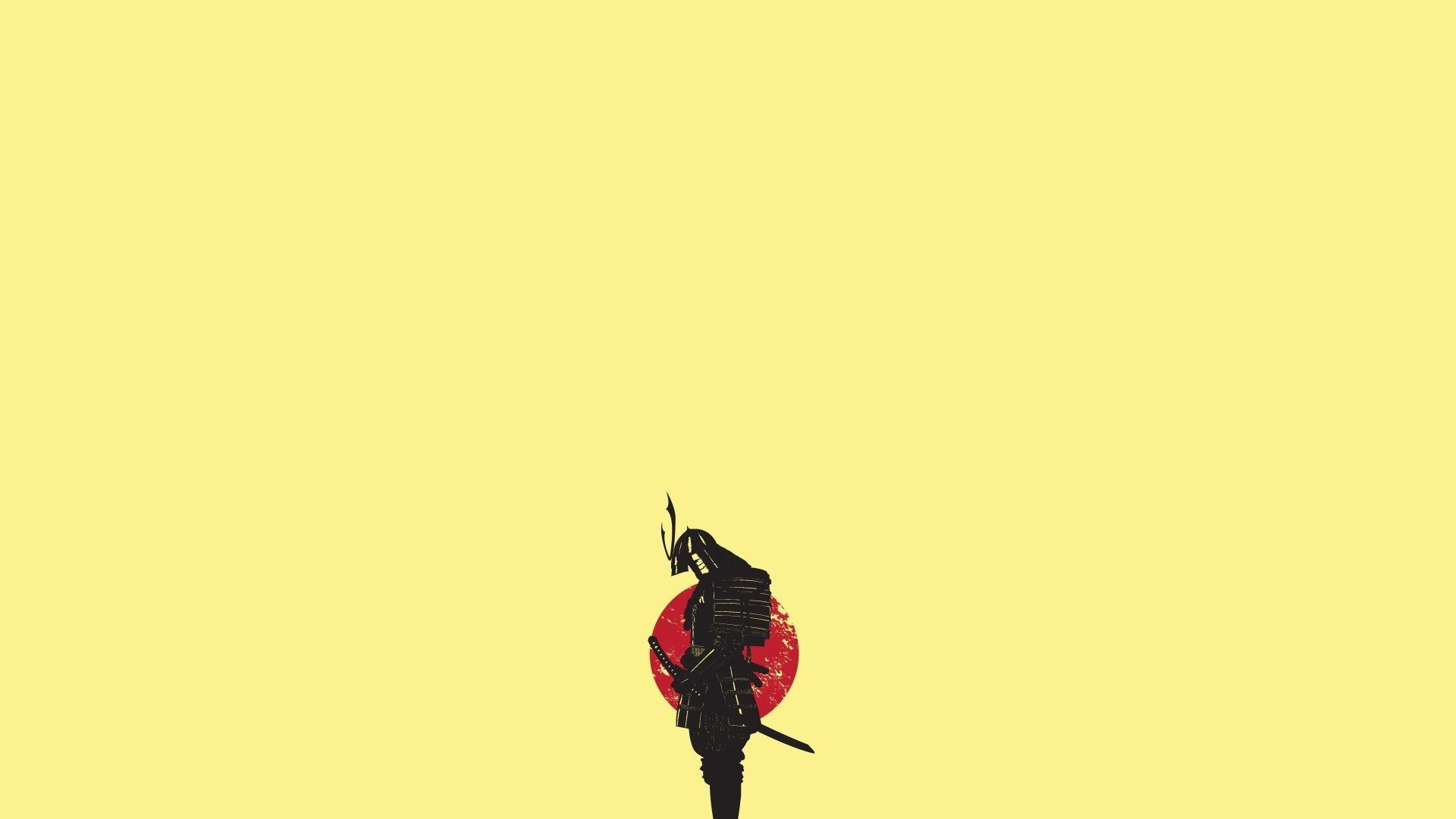 Abstract minimalistic samurai japanese artwork solid for Minimalist art design