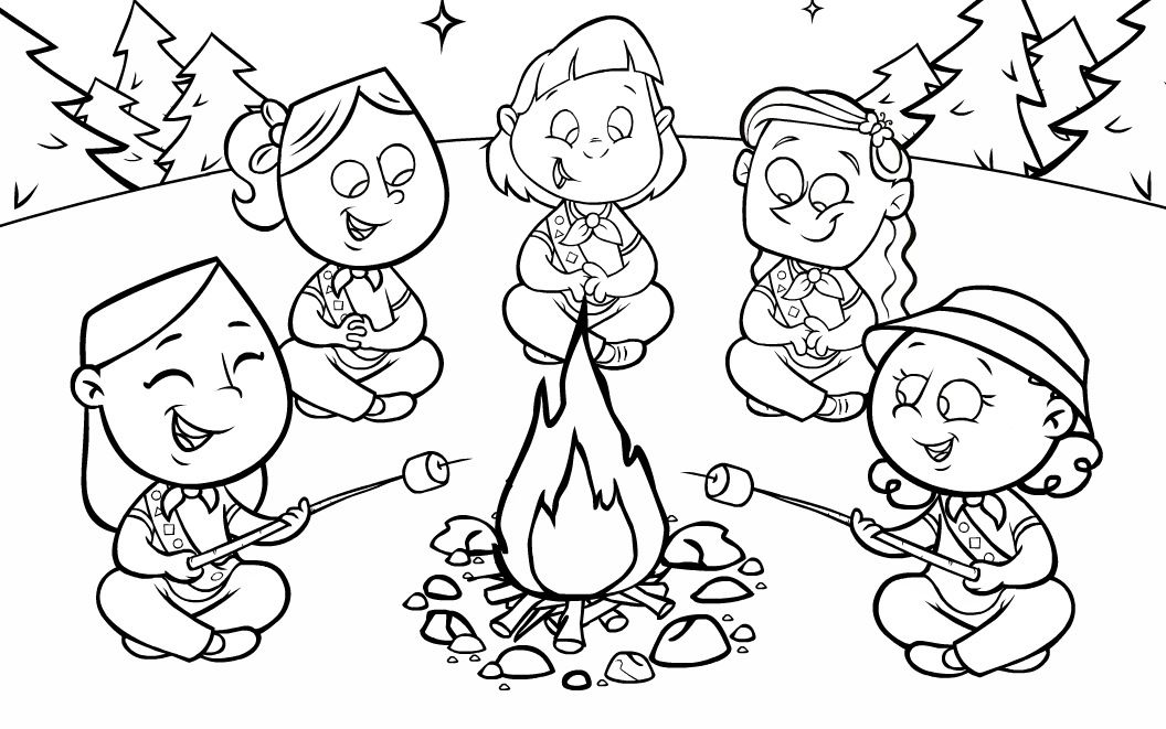 17+ Printable coloring pages for girl scouts info