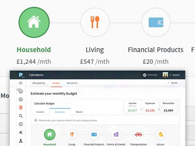 expenses plentific budget calculator ui pinterest budgeting