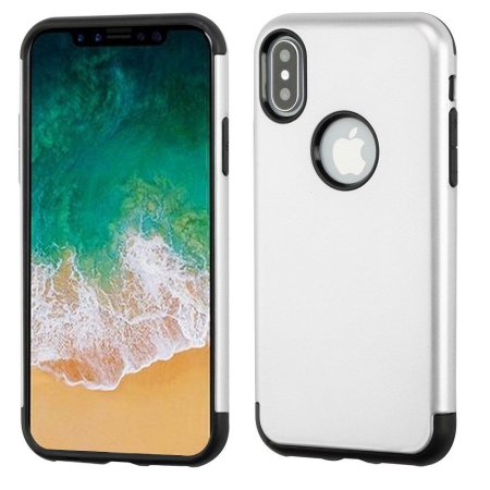 cheap for discount f5904 36544 iPhone X Case Mirror Protector Combo, by Insten Rubber Cover Case ...