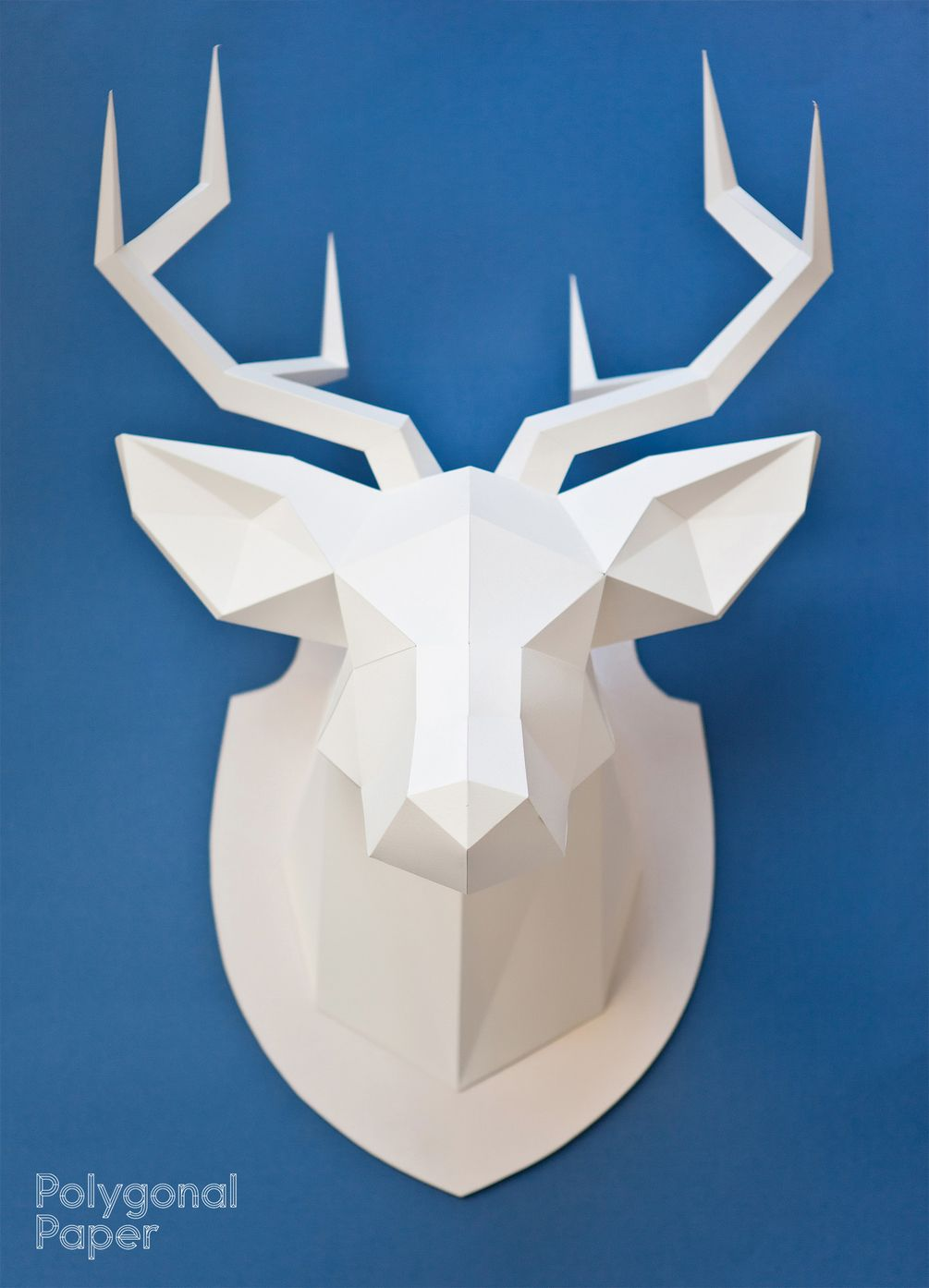 Files for making the deer head out of paper. template for printing ...