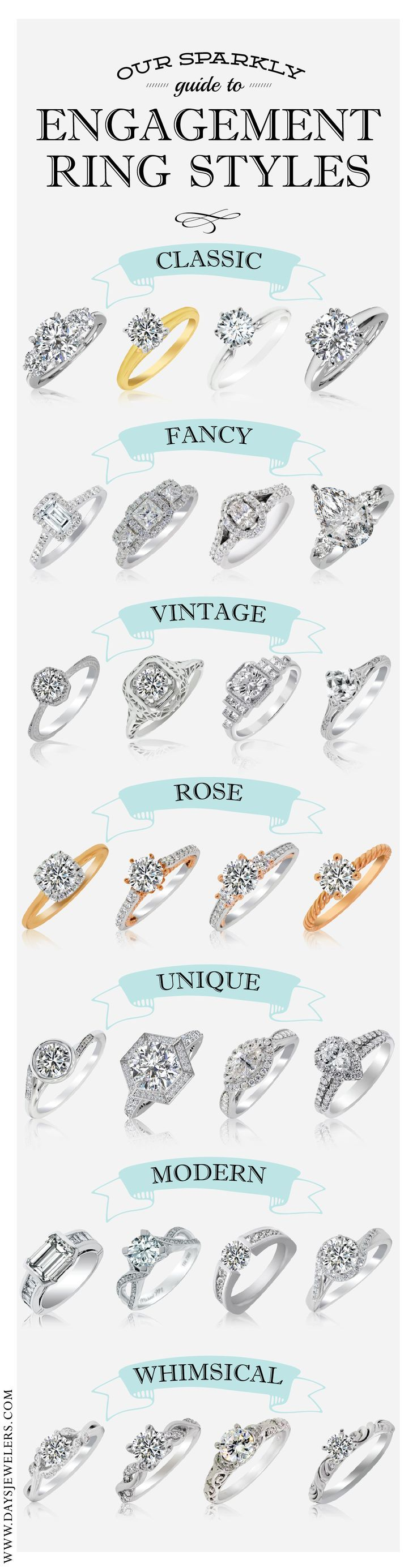 types different rikof in styles and of wedding rings ring engagement style