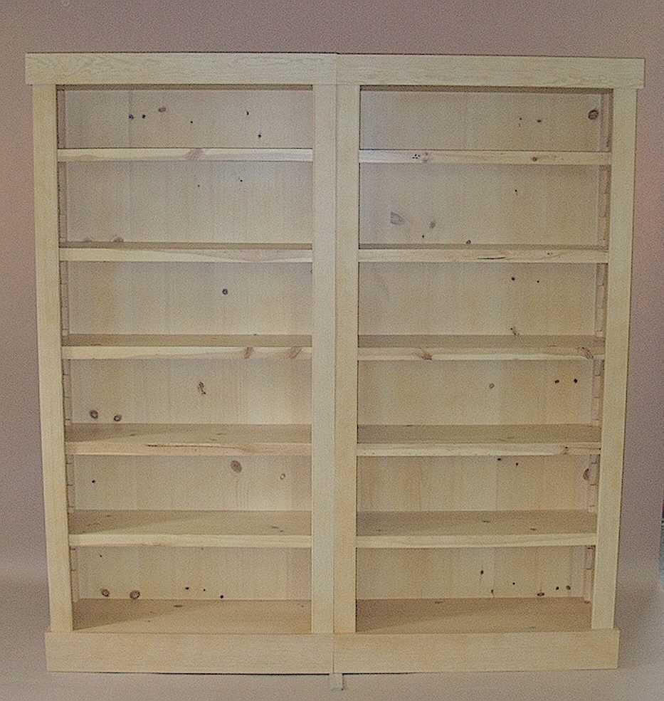 unfinished doors bookcase including with pine sofa astounding bookcases style wood appealing