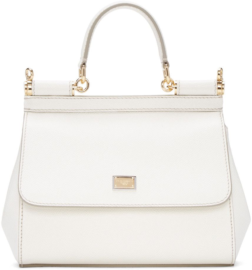 f0ed073178 DOLCE   GABBANA White Small Miss Sicily Bag.  dolcegabbana  bags  shoulder  bags  hand bags  leather  lining