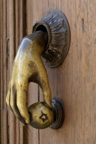 DOOR KNOCKER: Hand Knocker...its Kind Of Creepy...but I Like It