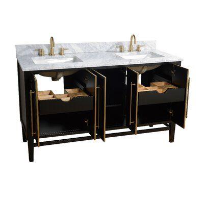 Mercer41 Rison 61 Quot Double Bathroom Vanity Set Top Finish