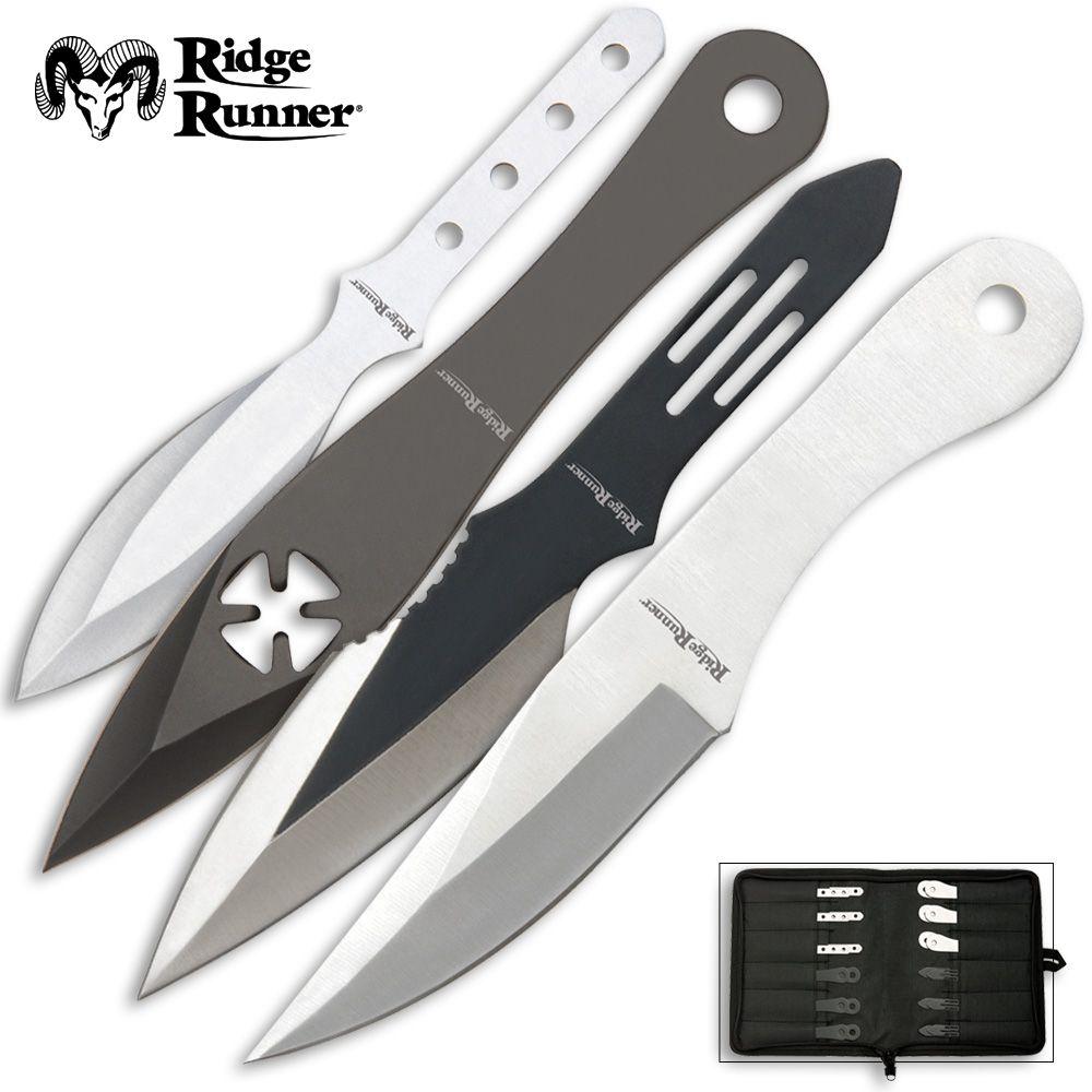 Ridge Runner Bullseye Throwing Knives 24 Pc Set