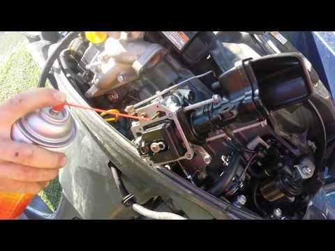 15 minute Carburetor Cleaning Rebuild Yamaha 20HP outboard 4