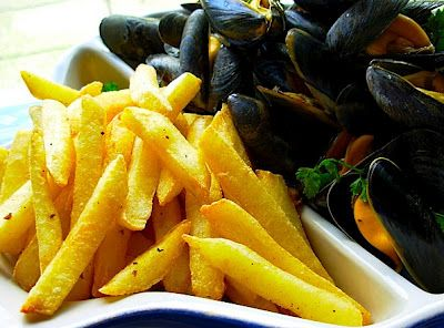 Moules frites,my favorite ,I dream about it sometimes!!
