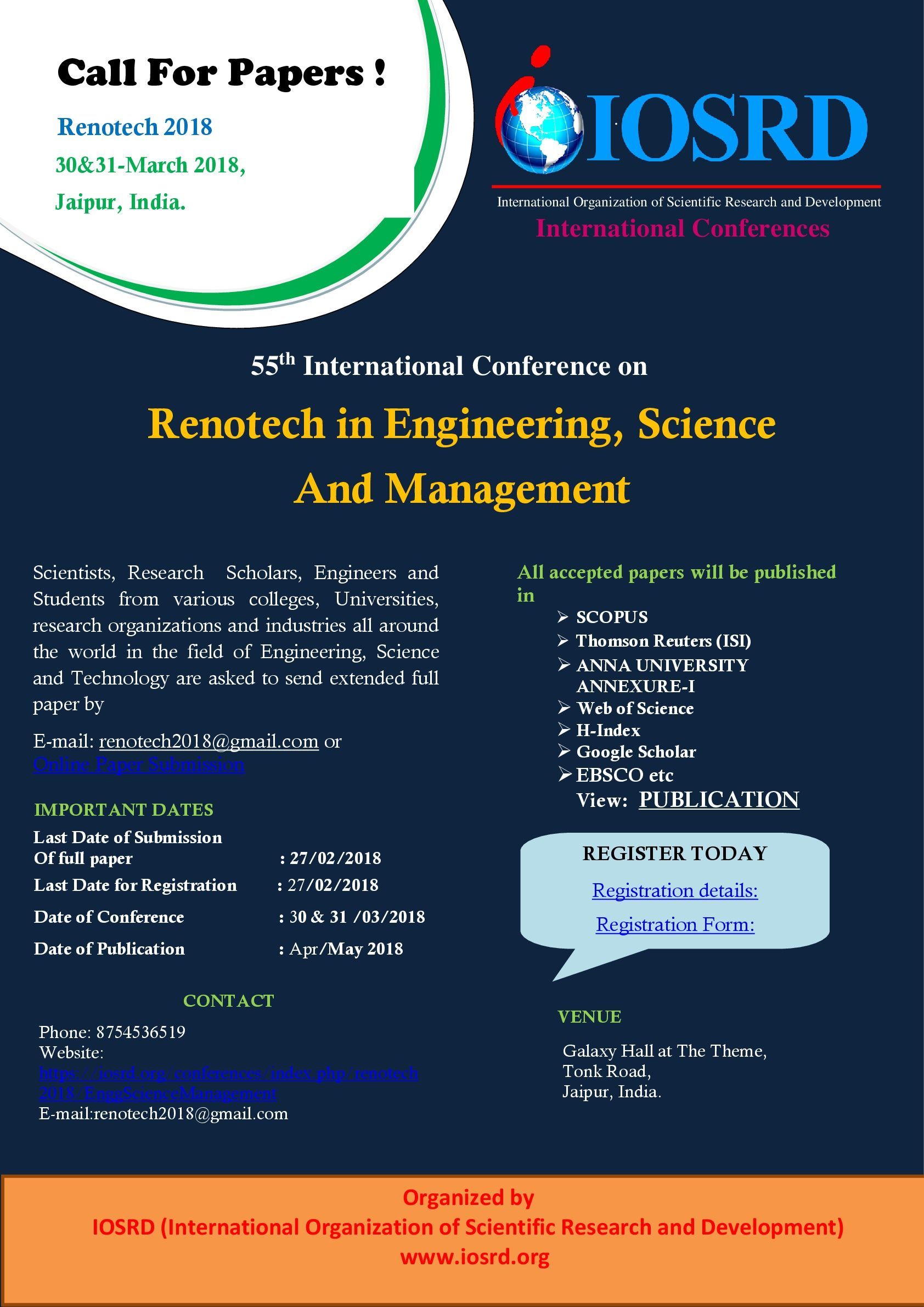 Original Research Papers For Publication In Anna University Annexure I Ii Scopus Thomson Reuters Isi Google Scho Research Scholar Google Scholar Science