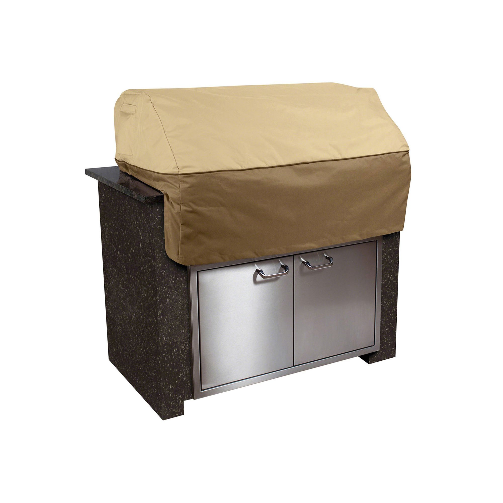 Clic Accessories Veranda 38 In Island Grill Cover Brown