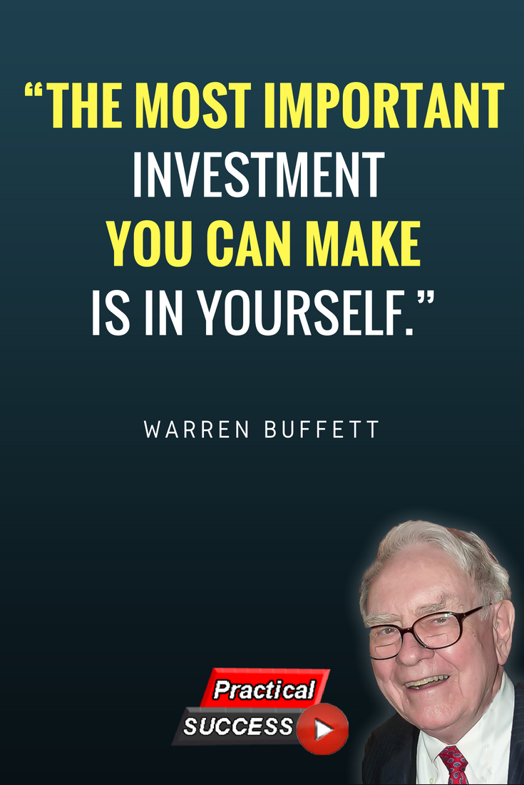 Brk A Stock Quote Stunning Warren Buffett Investment In Yourself Quotetake Some Advice From