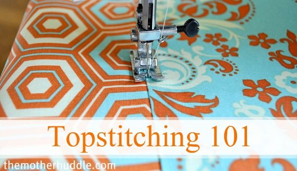 How to topstitch and some tips to make sure it looks great.