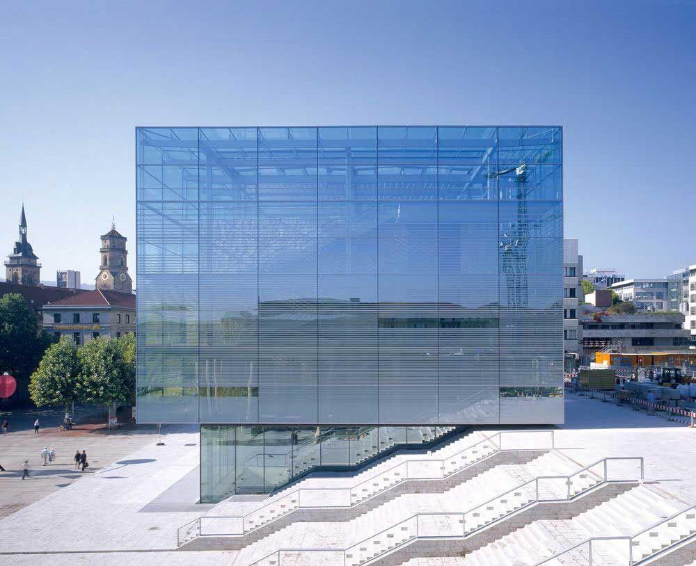 Kunstmuseum stuttgart 2005 werner zobek as structural for Stuttgart architecture