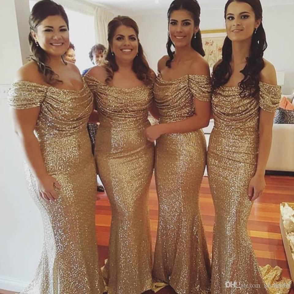 Gold sheath bridesmaid dresses ruched neckline off the shoulder gold sheath bridesmaid dresses ruched neckline off the shoulder design floor length bridesmaid gown for women ombrellifo Gallery