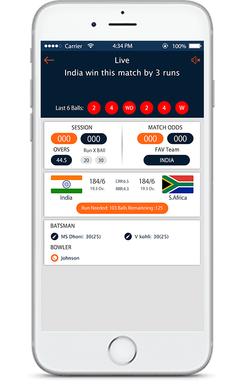 CRICKET FAST LIVE LINE app landing page Star sports