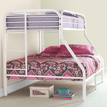 $349 (comes in black and silver too) Metal Frame Twin-over-double ...