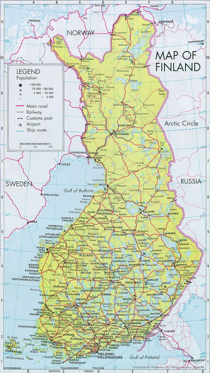 Finland Online Maps Map Finland Norway Map